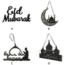 1PC Non-Woven Felt Eid Mubarak Hanging Tag Wall-mounted Party Home Decor Ramadan Scene Banners Props Ornament For Eid Al-Fitr o ravanello scene al presepio op 129