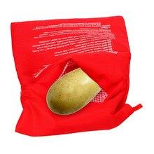 Saco de panela lavável micro ondas cozimento batatas saco rápido cozido batatas arroz bolso fácil cozinhar bolso a vapor