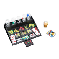 Gifts Coin Party Games Roulette Drinking Bar Game With 6 Glass Cups And 1 Board