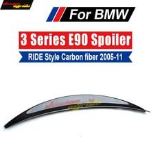 E90 E91 Tail Rear Trunk Spoiler Lip Wing Ride style Carbon For BMW 318i 320i 325i 328i 330i 335i Spoile 2005-11