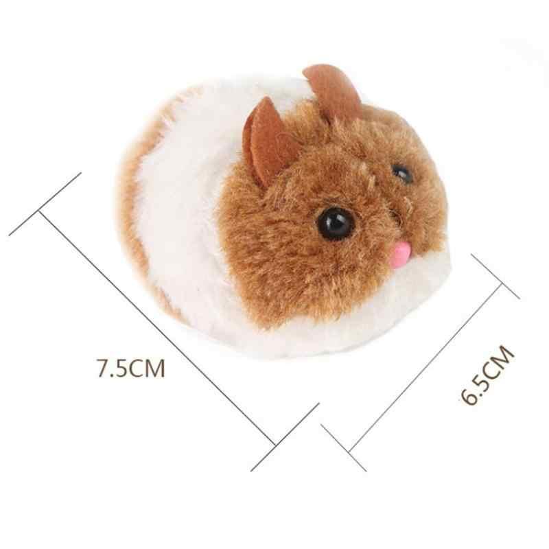 Puxe a Linha Vibrar Pequeno Rato Gordo Simulado Brinquedo Do Gato Rato Vibração Brinquedos de Pelúcia Para As Crianças Presente Montessori Educacional