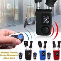 Wireless Remote Control Alarm Lock Electric Bicycle Motorcycle Password Steel Cable Steel Chain Electronic Anti-Theft Locking