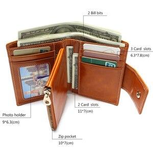 Image 3 - Portefeuille pour femmes en cire dhuile, portefeuille 2020, pochette de marque en cuir, Long, portefeuille Design décontracté