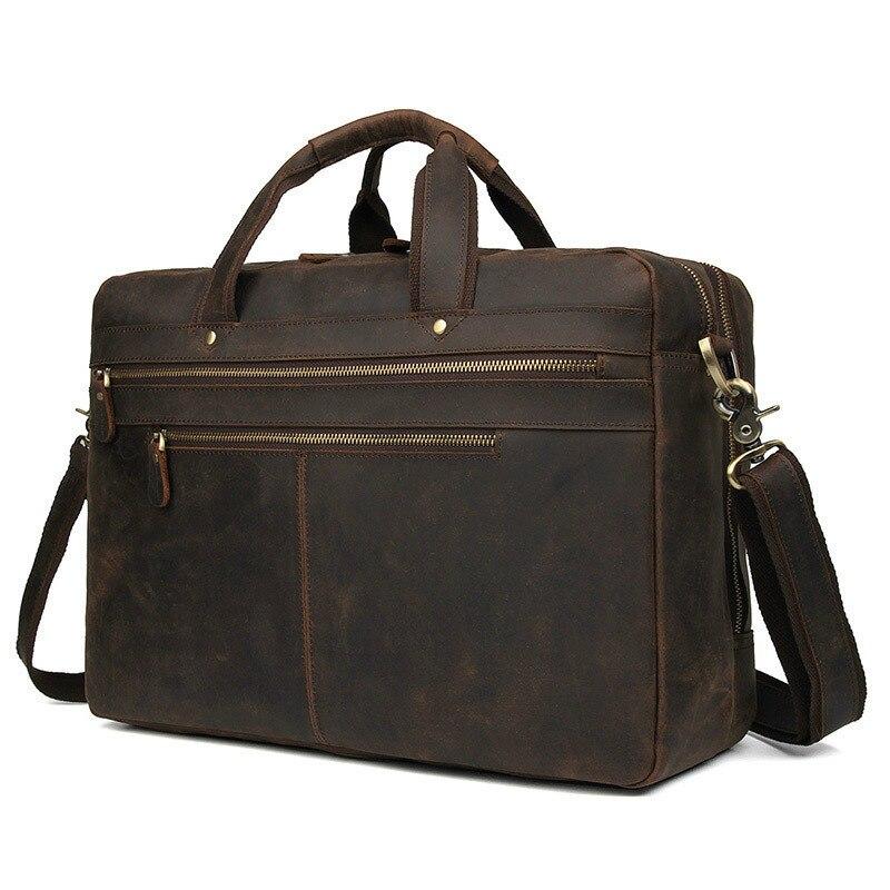 أعلى درجة مكتب يد الذكور 769 الرجال خمر ريال كريزي هورس حقيبة جلدية رسول الكتف محفظة حقيبة لابتوب حالة-في حقائب جلدية من حقائب وأمتعة على  مجموعة 1