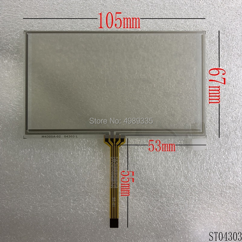 4.3 Inch Resistive Touch Screen ST04303 105mmX67mm