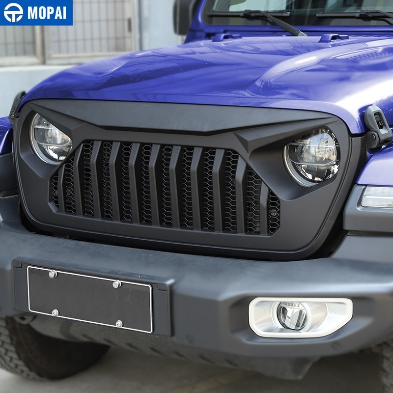 MOPAI Racing Grille for Jeep Wrangler JL 2018+ Car Front Grilles Cover Decoration for Jeep Wrangler JL Car Accessories Styling