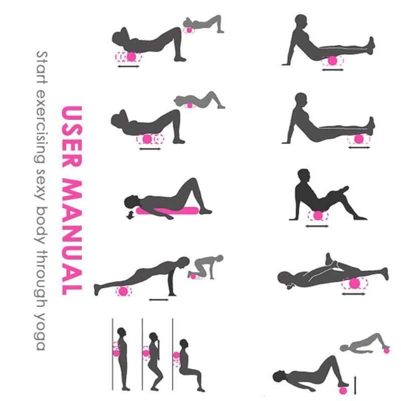 Yoga Block Fitness Equipment Eva Foam Roller Pilates Massage Exercises  Sport Tool Home Gym Exercises Massage Roller Yoga Block