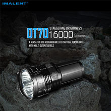 Hike IMALENT DT70 Military Tactical Flashlight Rechargeable CREE XHP70 LEDs Powerful Torch With 4* 18650 3000mA Li Batter(China)