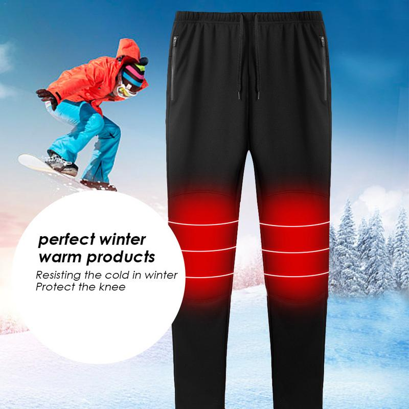 2018 New USB Intelligent Heating Warm Trouser for Men And Women Carbon Fiber Heating Pants Plus Velvet Warm Heated Cotton Pants