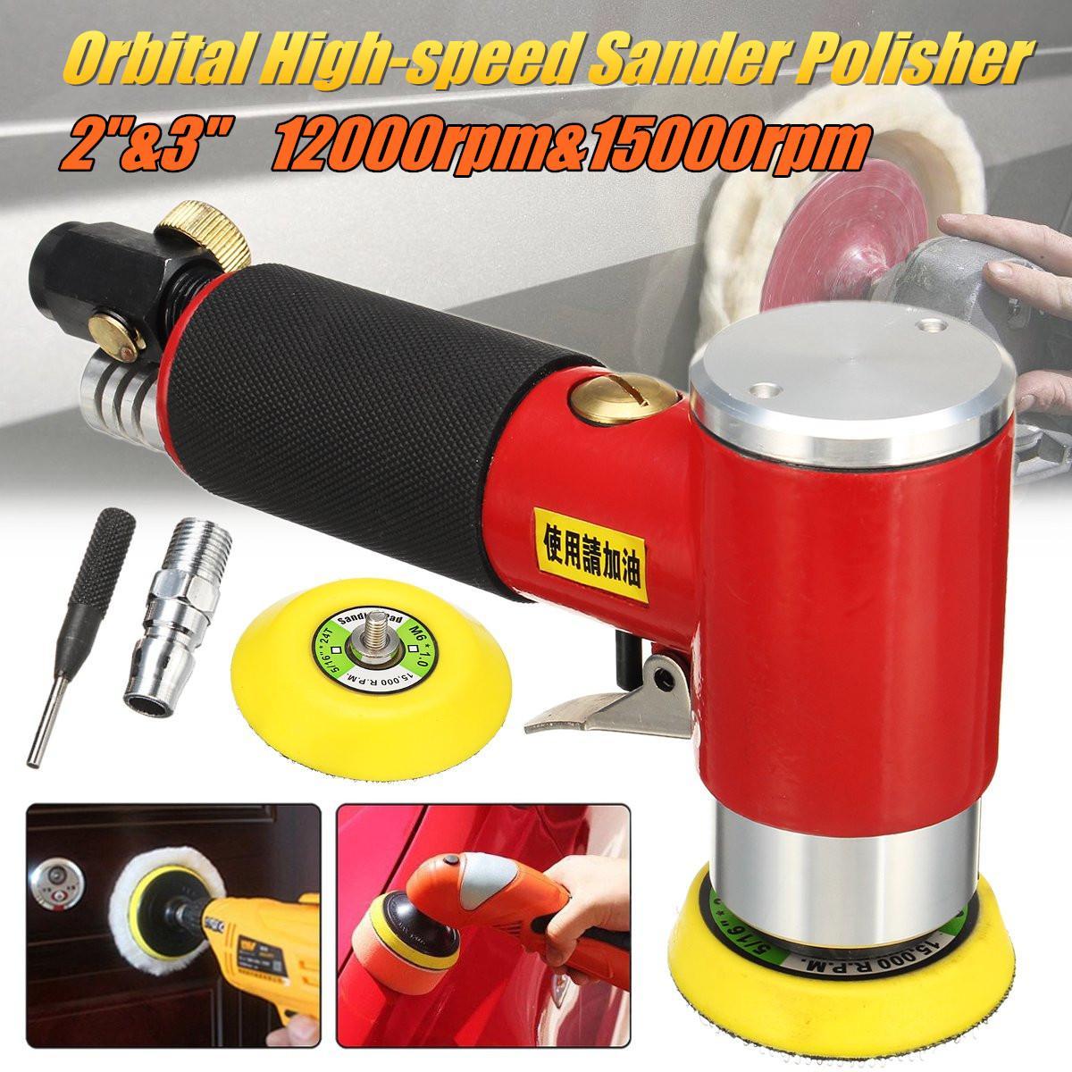 2 3 Mini Pneumatic Sanding Machine Tray Orbital High speed Sander Polisher For Various Materials Grinding