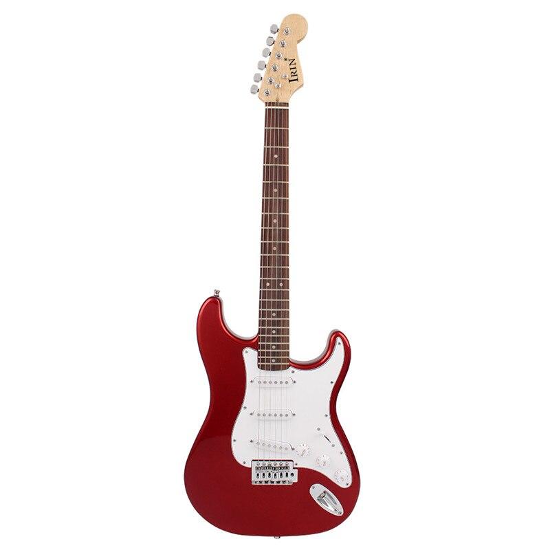39 pouces 6 Cordes Guitare Électrique Tilleul Touche Palissandre Guitare avec sac de guitare pour Débutants Professionnel Performance