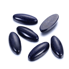 12.66 ct Natural Oval Blue Sand Stone 11x25MM Big Loose Gemstones 2.5G Hotsale Decoration Stone Jewelry Ring Accessories 10 Pcs