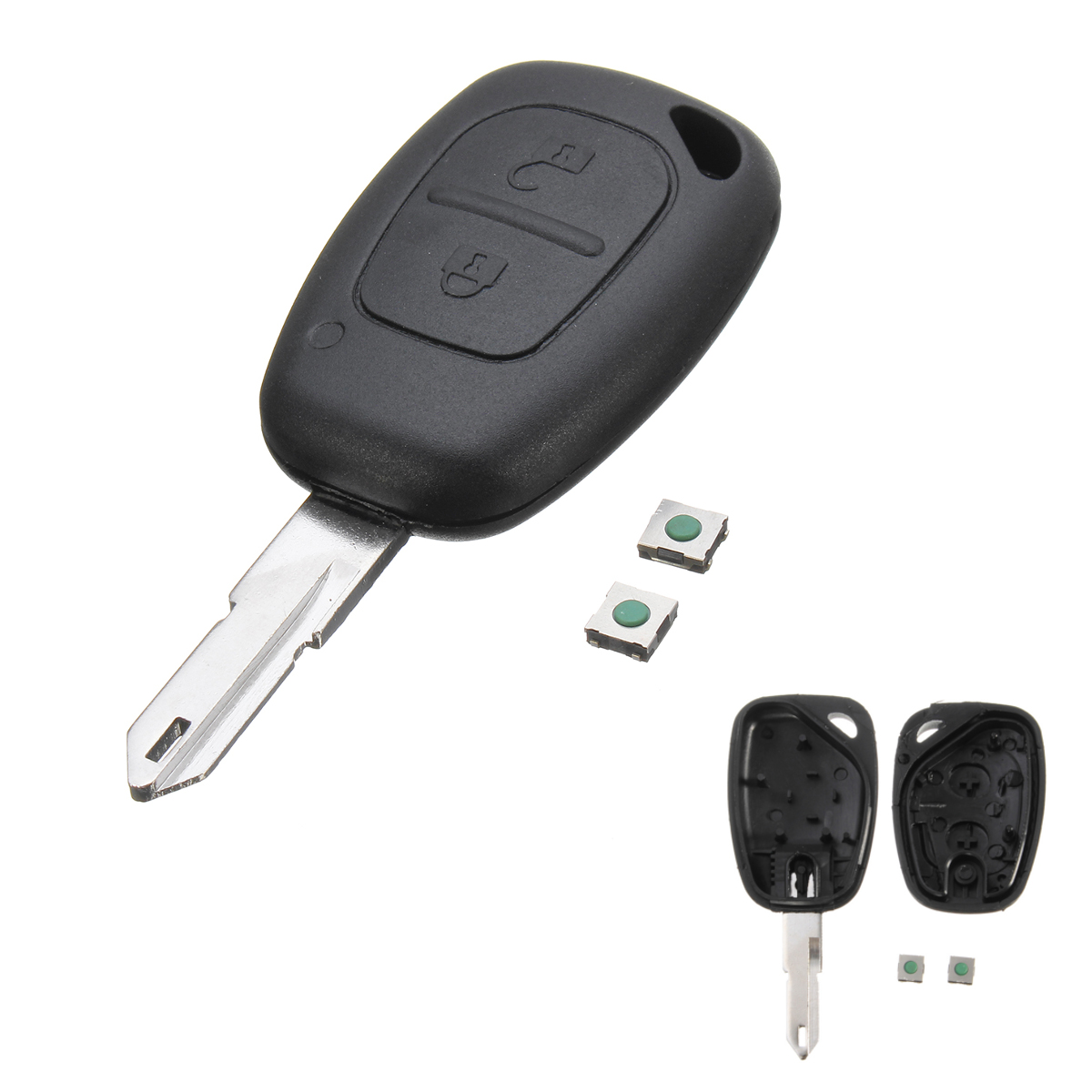 SCITOO 1PC Keyless Entry Remote Control Car Key Fob Shell Case 4 Buttons Replacement fit Mazda 3 6 Series 13-2017 SKE13D-01