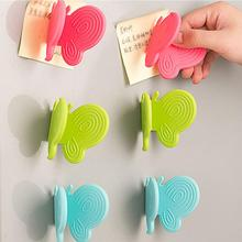 1pc Adorable Butterfly-Shaped Silicone Anti-Scald Device With Magnets Kitchen Tool Gadget Random Colors Portable And Durable