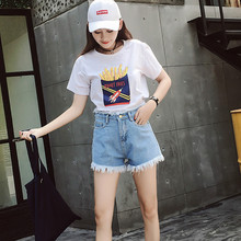 MILINSUS Women Denim Shorts Size S-XL Female Short Jeans for 2019 Summer Ladies Hot solid crimping denim shorts