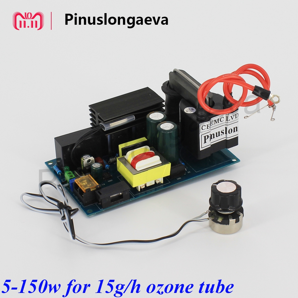 Pinuslongaeva 120w 150w power supply for 12g 15g/h ozone tube adjustable High voltage power supply for ozone spare parts HVPS new 450w high frequency high voltage power supply adjustable for ozone generator