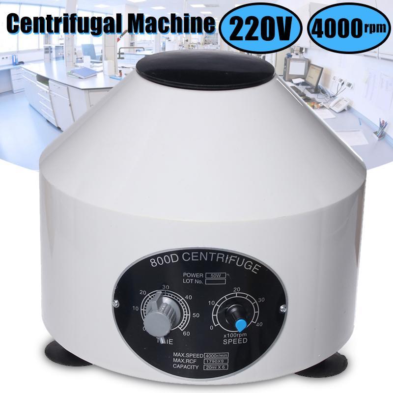 Mini 4000 RPM Elétrico Centrifugadora de Laboratório Prática Médica Máquina de Baixa-velocidade Centrífuga Desktop Com Temporizador