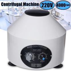 Mini centrifugadora eléctrica de laboratorio de 4000RPM máquina de práctica médica centrífuga de escritorio de baja velocidad con temporizador