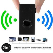 2 In 1 Bluetooth Transmitter Receiver Wireless A2DP 3.5mm Stereo Audio Cable Music Adapter Bluetooth V4 For TV DVD Mp3 PC new wireless 2 4ghz bluetooth v2 1 a2dp 3 5mm stereo hifi audio dongle adapter transmitter black