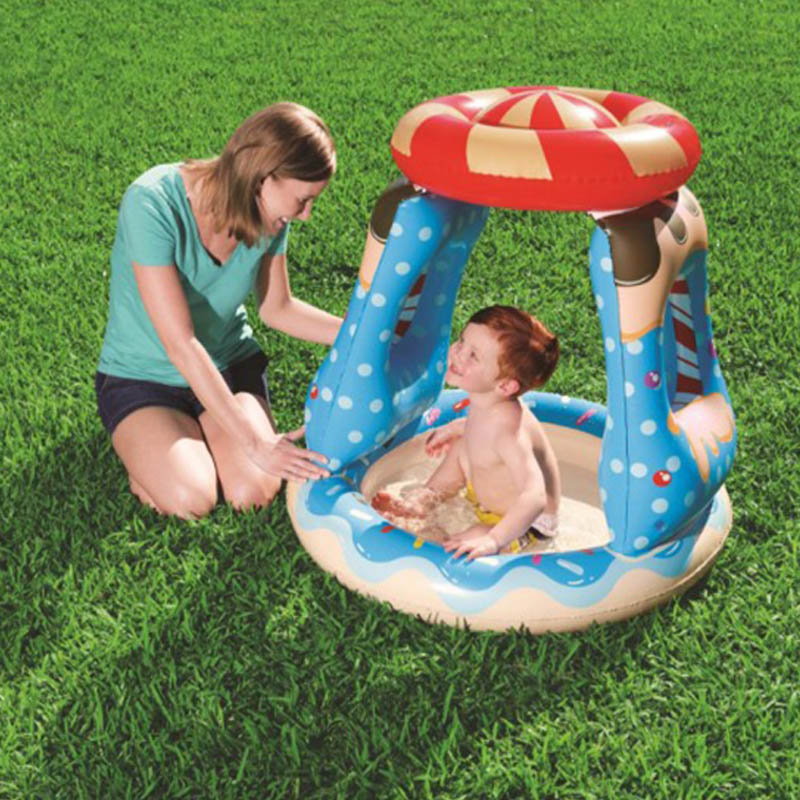 Baby Float Inflatable Candy Swimming Pool Bestway Awning Paddling Water Mattress Bed Party Pool Toys For Kids Boia Piscina