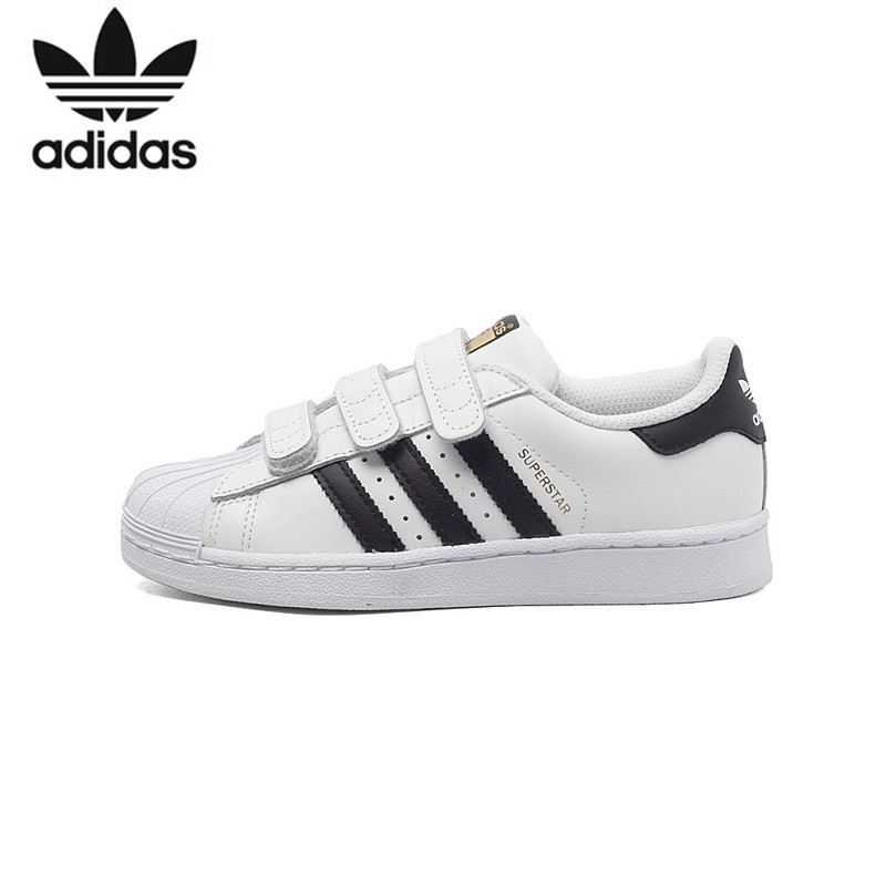 ADIDAS SUPERSTAR fondation Original enfants chaussures de skateboard respirant lumière enfants Sports de plein air baskets # B26070