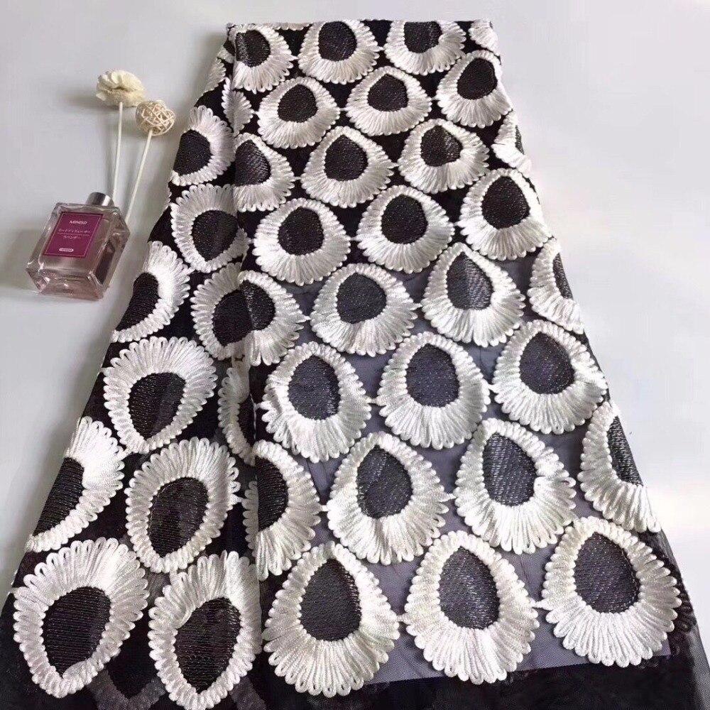 Piękne siatki koronki tkaniny wysokiej jakości haftowane tkaniny modne 3d koronki tkaniny na suknie ślubne Tull koronki 3D w Koronka od Dom i ogród na AliExpress - 11.11_Double 11Singles' Day 1