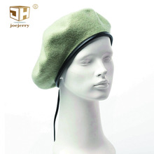 93bb9bfd477f0 JOEJERRY Flat Cap Wool Beret Military Female Artist Beret Winter French Style  Hat Black Leather Beret