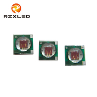 50PCS/LOT 3W high power LED chip 660nm with heat sink for led growing light