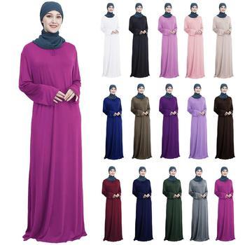 43e0b9e56 Ramadán mujer musulmana árabe vestido de Abaya Maxi largo bata islámica Maxi  Jilbab fiesta cóctel oración
