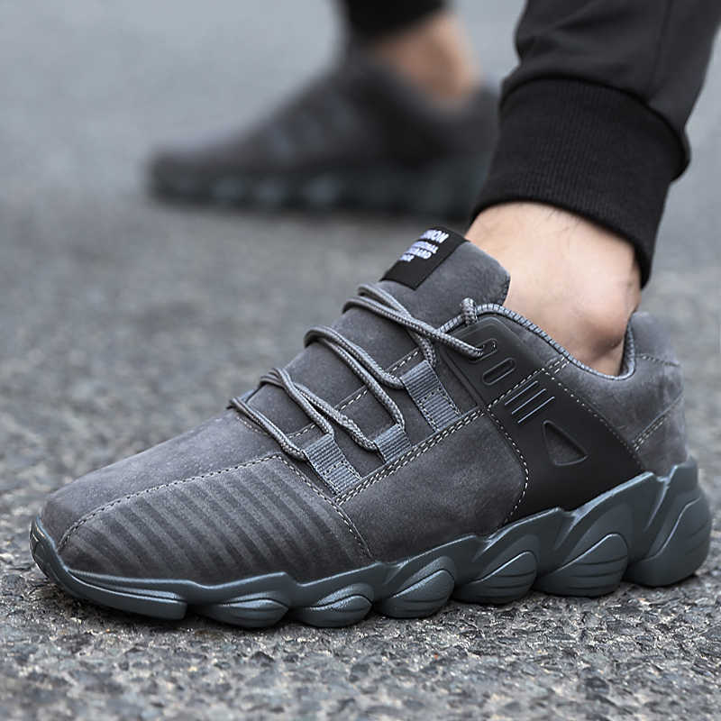 Running Shoes For Men Lace-up Athletic Trainers Hombre Breathable Sports Male Shoes High Quality Outdoor Walking Men Sneakers