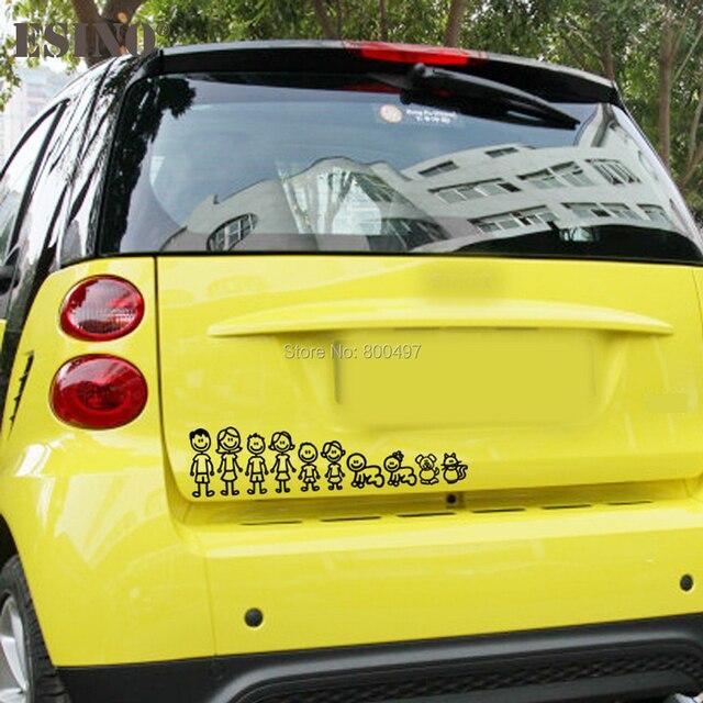 Us 889 11 Off10 X Neue Familie Mitglied Dekorative Reflektierende Kreative Auto Aufkleber Cartoon Auto Aufkleber Auto Körper Aufkleber Kreative