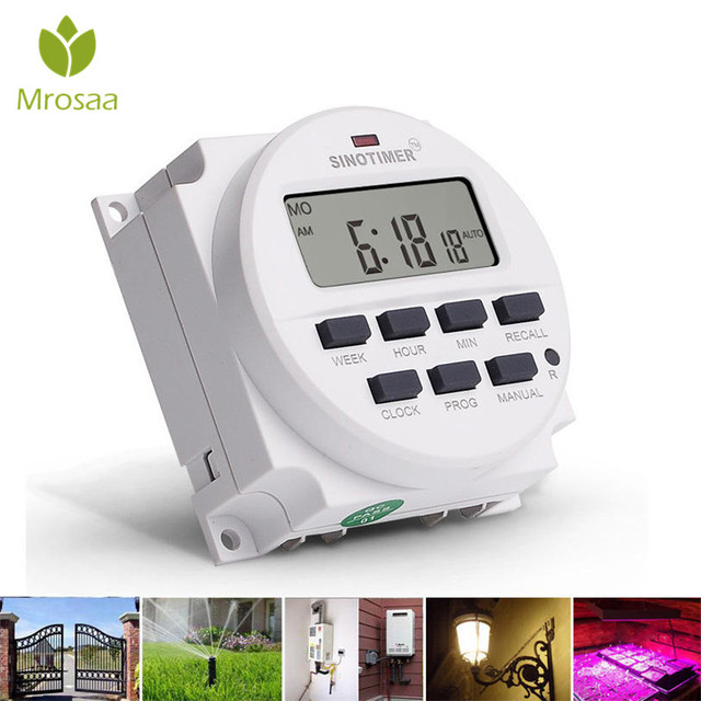 12V-220V Automatic LCD Digital ElectricProgrammable Relay Control Water Timer Garden Watering Timer Irrigation Controller System