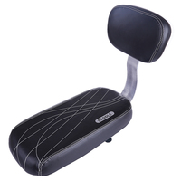 2019 Soft Bicycle Back Baby Seat PU Leather Cover Cushion Bike Child Chair with Back Rest Release Saddle Cycling Accessories
