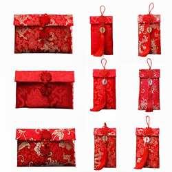 Элитная свадебная ткань красный конверт творческая личность парча ручной работы красная сумка для свадьбы День рождения новый год