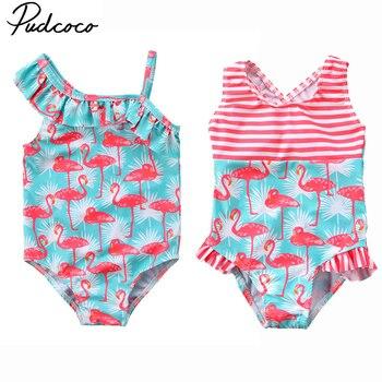 Baño T 7 Niña Talla Niños Pudcoco Traje 2 Tankini De Años 3 Bikini Flamenco Bebé eDEIYWH29