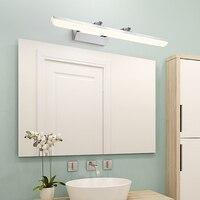 Dar design ajustável banheiro lâmpada de parede acrílico abajur 40/60/80/100cm aço inoxidável led espelho luz luminaria wandlamp