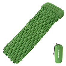 TOMSHOO Outdoor Ultralight Inflatable Cushion Sleeping Camping Mat Pad Mattress for Hiking Backpacking Travel