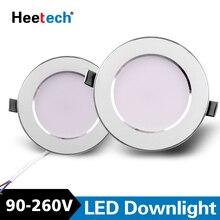 Led Downlight Led תקרת מנורות 6 W 10 W 12 W 15 W Led אור Lamparas חדר שינה מטבח מקורה תאורה AC 110 V 220 V 230 V 240 V