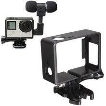 Камера аксессуар корпус оболочка корпуса протектор внешний микрофон+ Адаптер Стандартный рамки комплект подходит для GoPr Hero 4 3