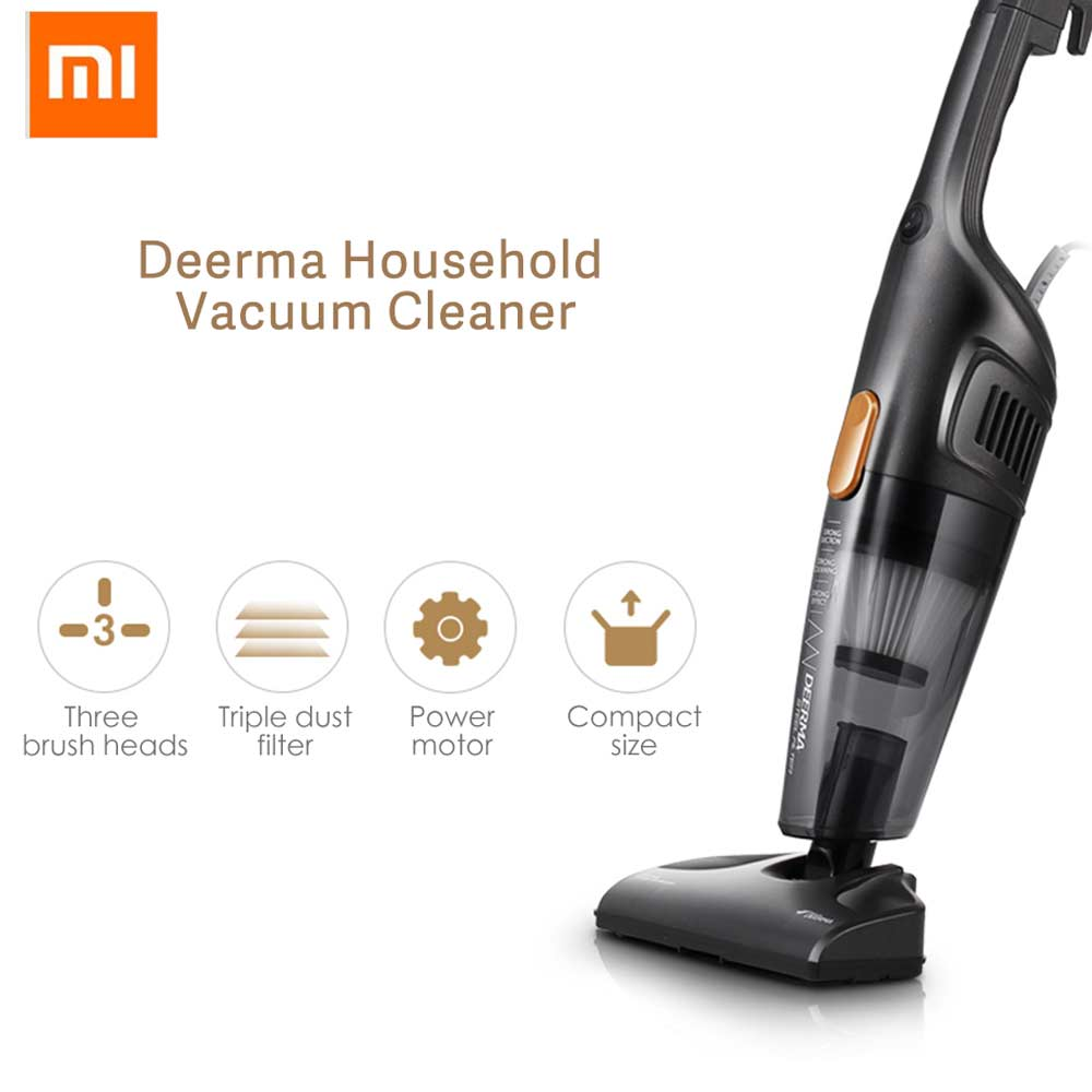 xiaomi deerma handheld vacuum cleaner household silent vacuum cleaner strong suction portable. Black Bedroom Furniture Sets. Home Design Ideas