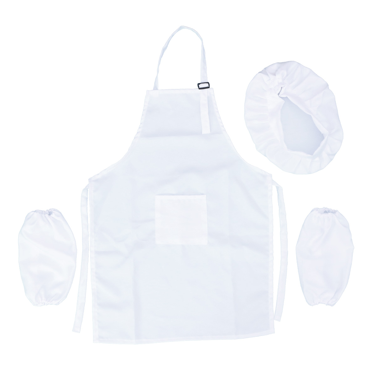 US $7.25 34% OFF|3Pcs Chef Set Complete Kids Kitchen Gift Playset with  Chefs Hat Apron Cooking Sleeve for Kids Cooking Play (White, L)-in Aprons  from ...