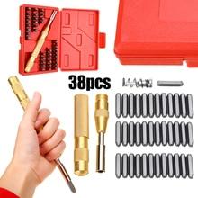 38pcs Steel Number Letter Hand Stamp Punch Set Soft Metal Imprint Stamping Die Tool Kit For DIY Decor