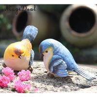 2pcs Ceramic Birds Crafts Room Decoration Handicraft Ornament Porcelain Animal Figurines Wedding Decorations