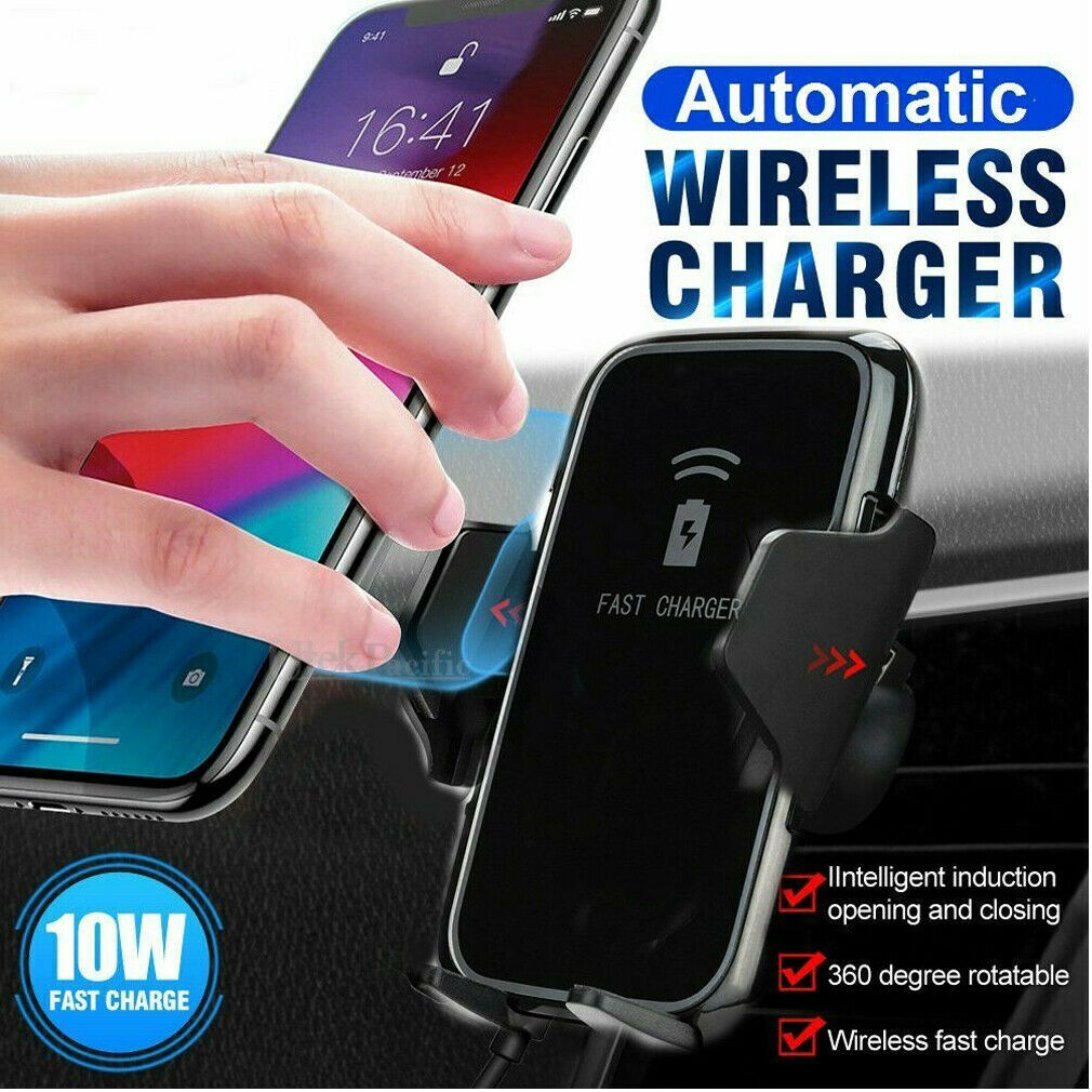 10W Qi Wireless Fast Charger Car Holder Gravity Mount For iPhone X Xs Max S9+ Note 9