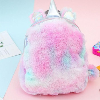 Hologram Unicorn Plush Backpack