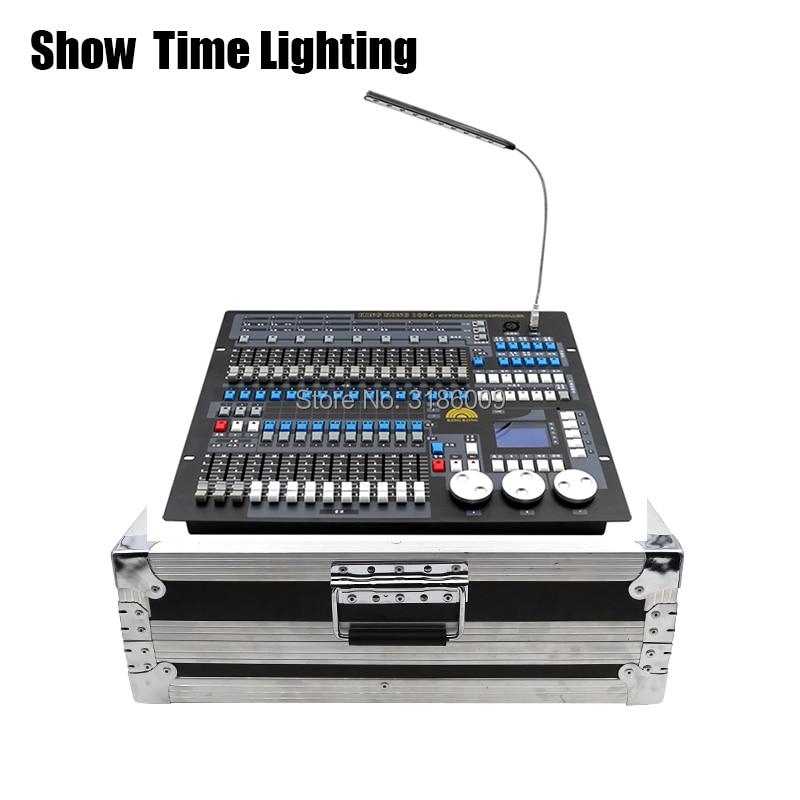 HORA do SHOW Kingkong 1024 DMX Controlador com flycase Stage luz DMX Mestre console caixa de vôo para XLR-3 par levou feixe cabeça em movimento