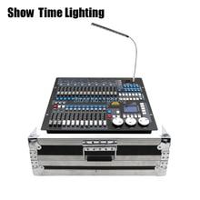 Показ времени Kingkong 1024 DMX контроллер с flycase Освещение сцены DMX мастер консоль полёт коробка для XLR-3 led par луч движущаяся головка