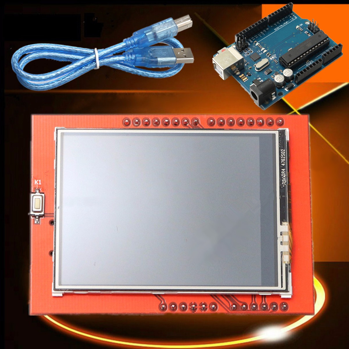 UNO-R3 ATmega328P Board 2.4 Inch TFT LCD Touch-Screen Module Kit For Arduino 240x320 Faster Transfer USB 32k Flash Memory