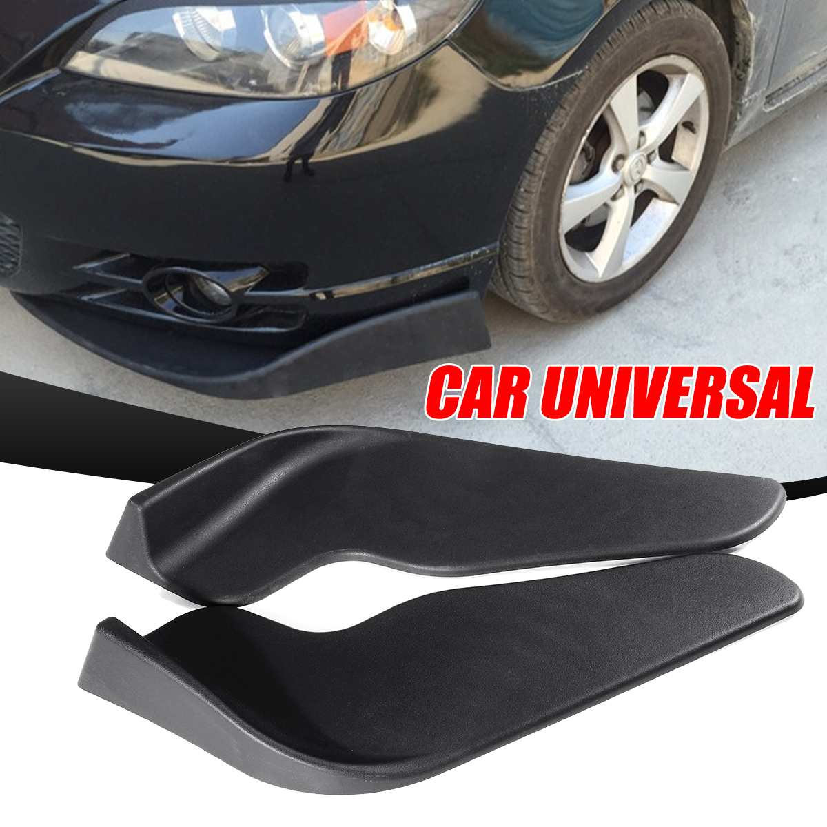 Mofaner 1Pair Universal Car Front Deflector Spoiler Splitter Diffuser Bumper Canard Lip Body Shovels Bumper Splitters