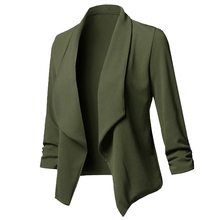 Long Sleeve Ruched Asymmetrical blazers
